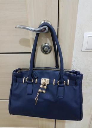 Сумка жіноча,синього кольору,бренд aldo.
