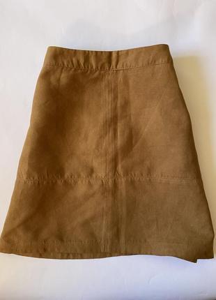 Трендовая юбка трапеция песочного цвета new look