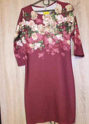 Очень красивое платье в розы