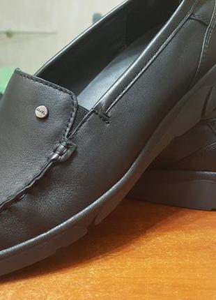 Полностью кожаные туфли-мокасины немецкого бренда