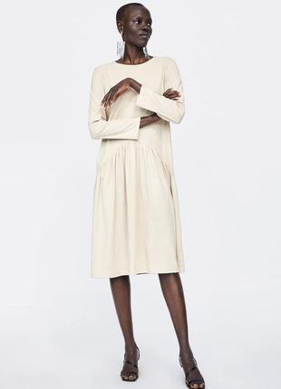 Красивое миди платье zara