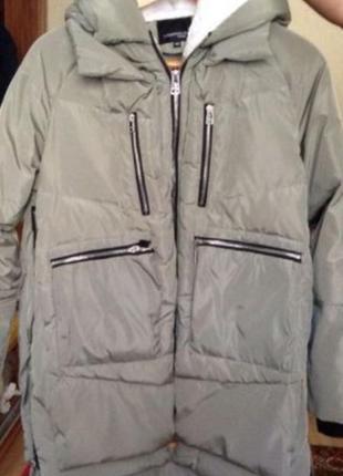 Пуховик куртка miss fiffo, зима осень