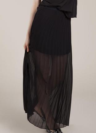 Шифоновая юбка с плиссировкой s