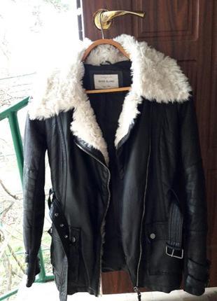 Куртка осень зима еко кожа