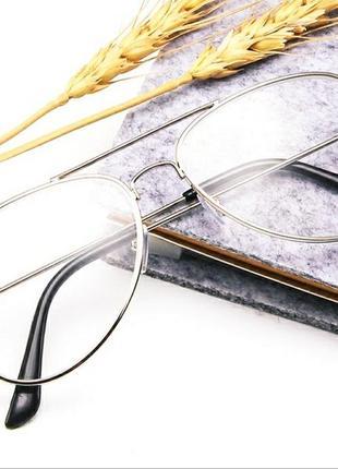 Классические плоские зеркальные очки унисекс с большой металлической оправой, ретро очки