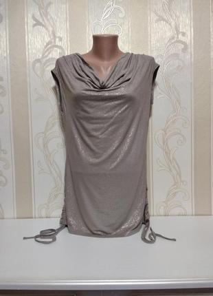 Нарядная футболка, блуза с драпировкой , etam.