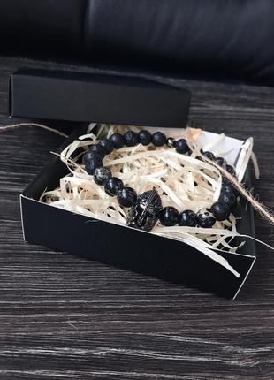"""Мужской браслет из натуральных камней """"спартанец"""""""