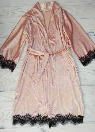 Халат, бархатный халат, велюровый халат, одежда для дома
