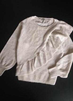 Красивый свитер с объемными рукавами от george