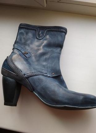 Ботинки, полусапожки демисезонные, кожа
