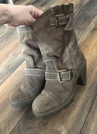 Кожаные фирменные ботинки fornarina оригинал