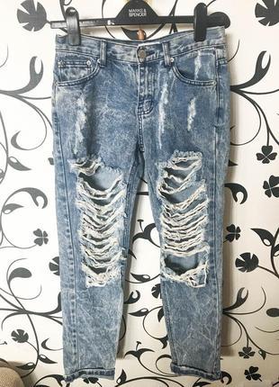 Джинсы glamorous бойфренды/рваные джинсы/бойфренды/варенки