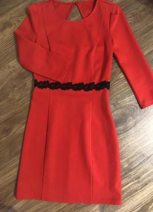 Платье с красивой спиной.как новое!