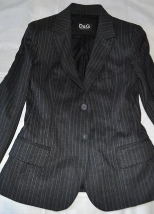 D&g стильный пиджак шерсть классика