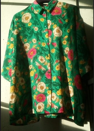 🙉нереальная рубашка 🙈 оверсайз🐵 monki 🐵