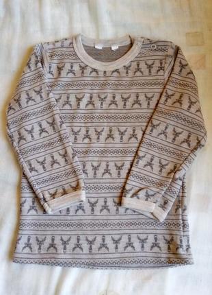 Шерстяной реглан/свитер, шерсть меииноса 86-92 термобелье