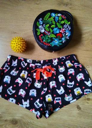 Суперкрутые трикотажные шорты домашние пижамные шортики прикольные
