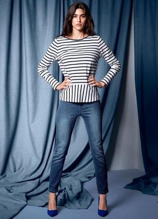 Стильные плотные джинсовые треггинсы от тсм tchibo (чибо), германия, размер 42-44