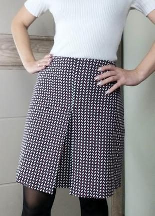 Mng s/36 плотная качественная юбка трапеция