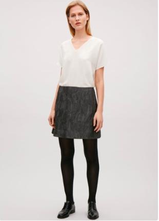 Черная трапециевидная юбка cos