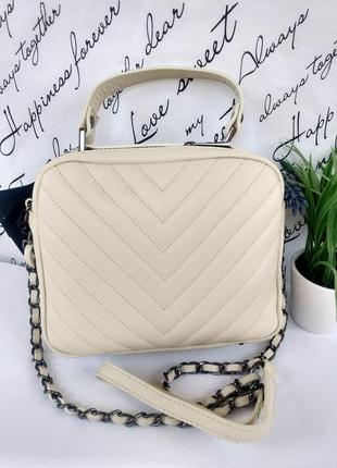 Шикарная сумочка-кроссбоди vera pelle италия.