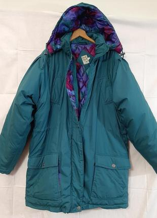 Супер теплая куртка с капюшоном  пуховик оверсайз тёплая большой размер