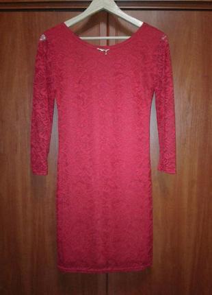 Платье нарядное красное