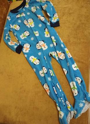 Человечек слип пижама флис