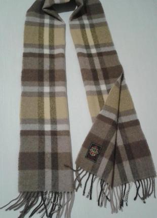 1 + 1 = 3 шарф тканый в клетку шерстяной шалик +300 шарфов платков