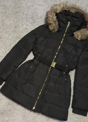 Оригинал.фирменная,теплая,удлиненная куртка-пуховик mango