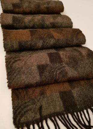 Стильный мягкий и теплый шарф натуральная шерсть