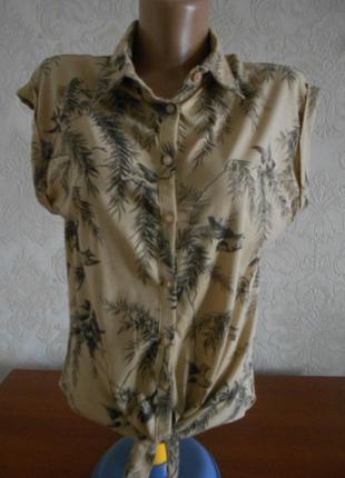 Трикотажная блузка в отличном состоянии l - xl