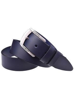 Женский кожаный ремень джинсовый jk-4030 blue (4 см)