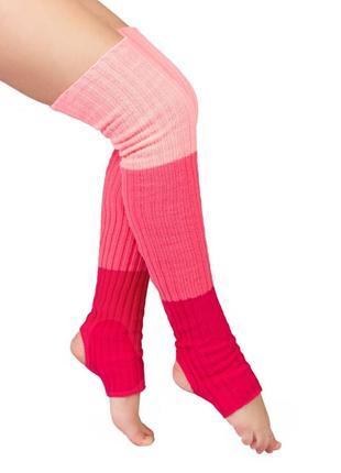 Гетры детские  красно-розовые 45 см (0551)