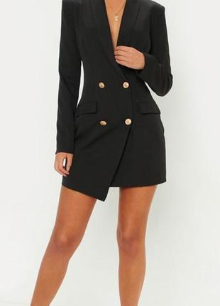 Коктейльное платье удлинённый пиджак жакет блейзер от prettylittlething