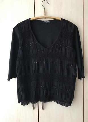 Нарядная кофточка блуза плиссе