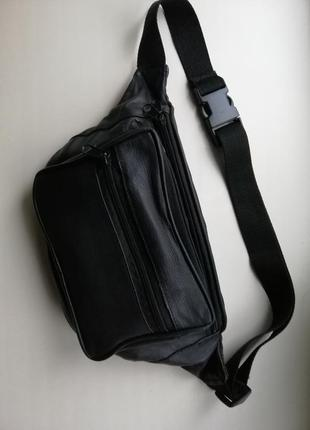 Кожаная сумка банан (бананка), 100% натуральная кожа