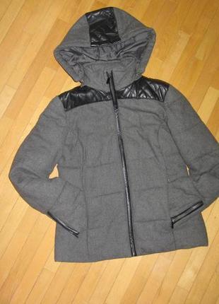Куртка с кожаными вставками la redoute
