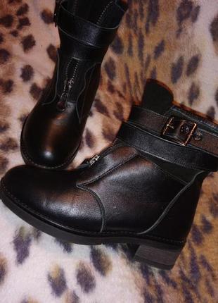 Ботинки из натуральной кожи и замша