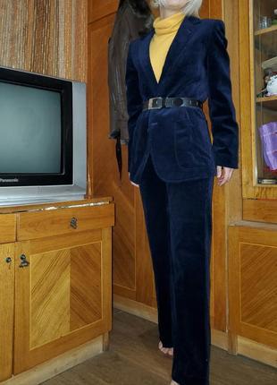 Вельветовый брючный брендовый костюм