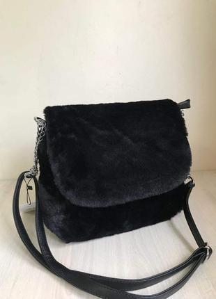 Меховая сумочка кроссбоди. 4 цвета