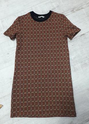 Базовое платье теплое zara trafaluc люрекс