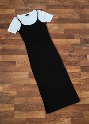 Стильное платье с футболкой topshop