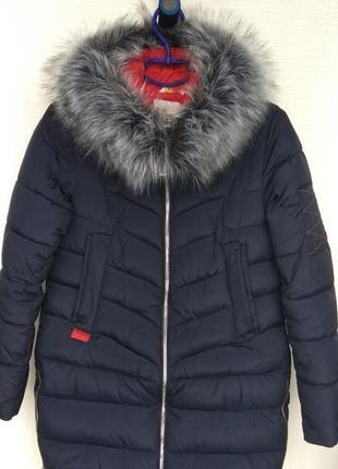 Очень теплая зимняя куртка фирмы cacci, курточка подойдет для беременных