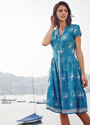 Платье в морской принт