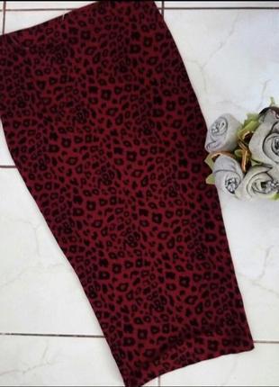 Юбка марсала леопардовая лео принт