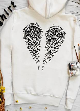 Крылатое худи ручная роспись