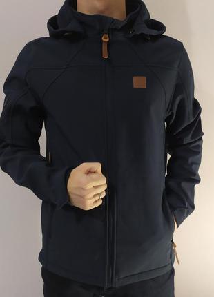Стильная термо куртка темно-синего цвета)