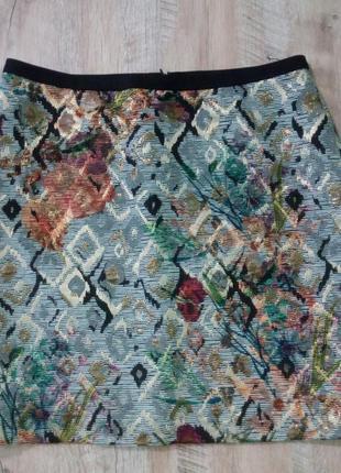 Шикарная жаккардовая юбка