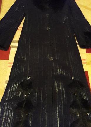 Дубленка длинная с капюшоном черная дубленка женская дубленка2 фото